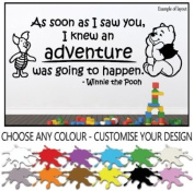 Winnie the Pooh and Piglet As Soon as I Saw You Children's Bedroom Kids Room Playroom Baby Nursery Wall Sticker Wall Art Vinyl Wall Decal Wall Mural - Regular Size.