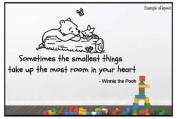 Winnie the Pooh Sometimes the Smallest Things Quote Children's Bedroom Kids Room Playroom Nursery Wall Sticker Wall Art Vinyl Wall Decal Wall Mural - Regular Size.