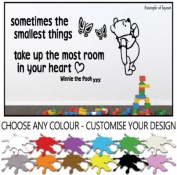 Winnie the Pooh Sometimes the Smallest Things Children's Nursery Wall Sticker Wall Art Vinyl Wall Decal Wall Mural