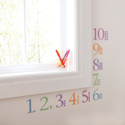 Kidscapes 1-10 Number Wall Stickers, includes Numbers and Counters 1-10, Harlequin