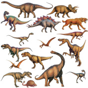 RoomMates Repositionable Childrens Wall Stickers, Dinosaurs