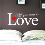Sticker Bay All You Need Is Love Wall Sticker Bedroom Art Quote - Ivory Beige