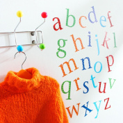 Kidscapes Alphabet Lower Case Wall Stickers, 26 stickers a - z, Harlequin Bright