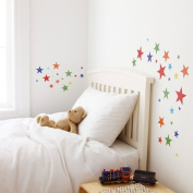 Kidscapes Star Wall Stickers, 50 Star Stickers, Harlequin Bright