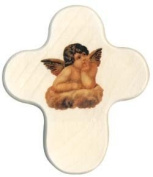 Wooden cross with the archangel Raphael
