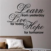 Sticker Bay Learn Live Hope Wall Sticker Quote Graphic Lounge Kitchen - Beige