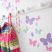 Kidscapes Butterfly Flutter Wall Stickers, 54 Butterfly Stickers