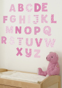 FunToSee Uppercase and Lowercase Alphabet Wall Stickers and Decals Set