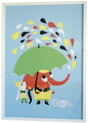 Littlephant Rain Graphic Print