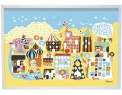 Littlephant Littletown Graphic Print