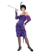 Fabulous Flapper Wearing Purple Dress - General Party Lifesize Cardboard Cutout / Standee / Standup
