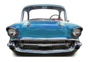 Blue Car (small) - Stand In Lifesize Cardboard Cutout / Standee / Standup