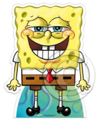 SPONGEBOB SQUAREPANTS (TOOTHY GRIN STYLE) - LIFESIZE CARDBOARD CUTOUT