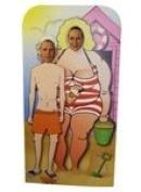 Sea Side Couple Stand in Cardboard Cutout