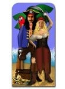 Pirate Couple Stand in Lifesize Cardboard Cutout