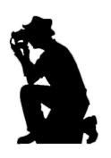 Photographer Silhouette - Silhouette Lifesize Cardboard Cutout / Standee / Standup