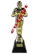 Golden Award Lifesize Statue Cardboard Cutout