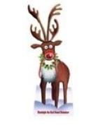 Rudolph Christmas- Lifesize Standee - Cardboard Cutout