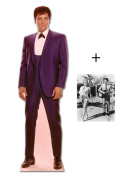 "*FAN PACK* - ELVIS 1960S WEARING BLUE SUIT - LIFESIZE CARDBOARD STAND-IN (CUTOUT / STANDEE / STANDUP) - INCLUDES 8X10"" (25X20CM) STAR PHOTO - FAN PACK #148"