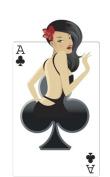 Clubs Babe - Poker Night Lifesize Cardboard Cutout / Standee / Standup