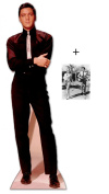 "*FAN PACK* - ELVIS IN BLACK SUIT AND WHITE TIE - LIFESIZE CARDBOARD STAND-IN (CUTOUT / STANDEE / STANDUP) - INCLUDES 8X10"" (25X20CM) STAR PHOTO - FAN PACK #152"