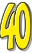 Number 40 - Birthday Party Lifesize Cardboard Cutout / Standee / Standup