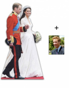 *COMMEMORATIVE PACK* - PRINCE WILLIAM AND KATHERINE MIDDLETON (ROYAL WEDDING DRESS) - LIFESIZE CARDBOARD CUTOUT (STANDEE / STANDUP) - INCLUDES 8X10 (25X20CM) STAR PHOTO - FAN PACK #196