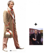 *FAN PACK* - The 5th Doctor Peter Davidson Classic Doctor Who LIFESIZE CARDBOARD CUTOUT (STANDEE / STANDUP) - INCLUDES 8X10 (25X20CM) STAR PHOTO - FAN PACK #250