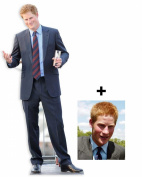 *FAN PACK* - Prince Harry LIFESIZE CARDBOARD CUTOUT (STANDEE / STANDUP) - INCLUDES 8X10 (25X20CM) STAR PHOTO - FAN PACK #270