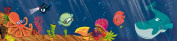 Wandpiraten 200 X 46.5cm Underwaterworld Mural Wallpaper for Kids