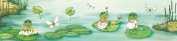 Wandpiraten 200 X 46.5cm Frogs Mural Wallpaper for Kids