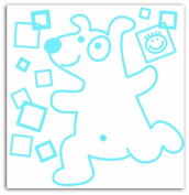 Baby Boum Youmi Scuba Removable Wall Stickers with Cute Dog Line Drawing