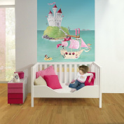 Wandpiraten 139.5 X 200cm Pink Pirates Mural Wallpaper for Kids