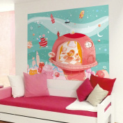 Wandpiraten 186 X 150cm Space-Age Princess Mural Wallpaper for Kids