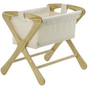 Cariboo Classic Crib Bassinet Set, Natural, with Natural Fabric