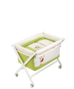 Naf-Naf Mini-Cot with Crib-style Stand and Textiles