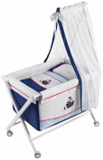 Naf-Naf Mini-Cot with Crib-style Stand, Textiles and Mosquito Net