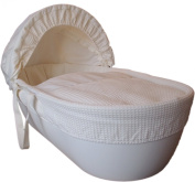 Shnuggle Cotton Waffle Hypoallergenic and Silent Moses Basket