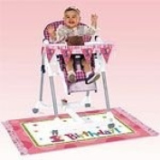 One-derful Girl Highchair Decorating Kit