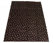 Large Highchair No Mess Splash Mat/Table Protector - Black With White Polkadots