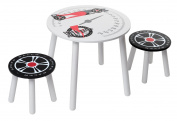 Kidsaw Speed Racer Table and 2 Stools for 18 Months