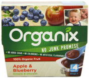 Organix Stage 1 From 4 Months Organic Fruit Pots Apple and Blueberry 4 x 100 g