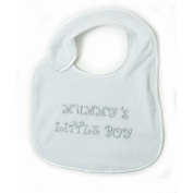 Baby Boy - Mummys Little Boy Design Embroidered Bib with Velcro Strap