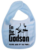 Image is Everything - I'm the Godson... future head of the family - Baby, Toddler, Feeding Bib, Pale Blue
