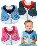 New Girls Boys waterproof Infant Toddler Bib Cowboy cowgirl Feeding Bibs smart 0 3 6 9 12 1 2 3