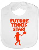 Future Tennis Star - Funny Baby/Toddler/Newborn Bib - Baby Gift