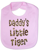 Daddy's Little Tiger In Animal Print - Funny Baby/Toddler/Newborn Bib -Gift