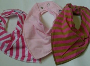 Premier Baby Bandana Bibs GIRLS (mixed colours) x 3 PACK
