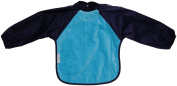 Silly billyz 4261106 Long Sleeve Bib Aqua and Navy Blue 18-36 Months