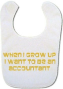 Accountant (in gold) Baby bib